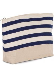 Tasje met marineprint voor accessoires