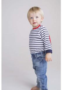 Striped long-sleeve T-shirt