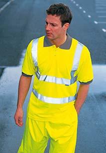 High Visibility Safety Polo Shirt