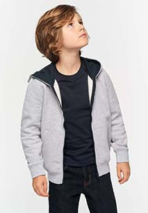 Kindersweater met rits en capuchon