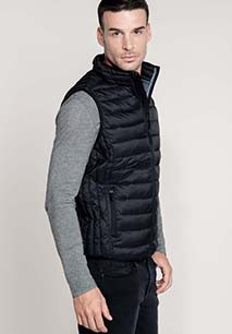 Men's lightweight sleeveless down jacket