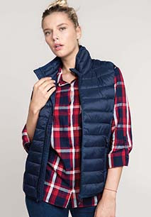 Ladies' lightweight sleeveless down jacket