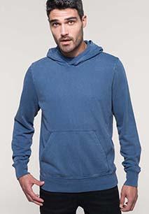 Sweater met capuchon van french terry