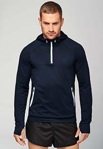 Sportsweater Met Capuchon En Halsrits