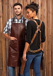 Artisan - Leather cross back bib apron