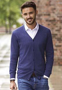 Men's V-Neck Knitted Cardigan
