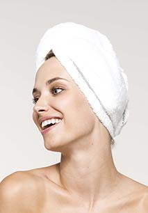Ultra soft microfibre hair towel