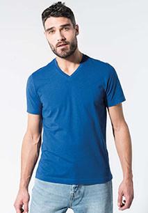 Heren-t-shirt BIO-katoen V-hals