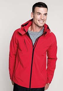 Heren Afneembare hooded softshell jas