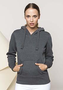 Damessweater met capuchon polykatoen