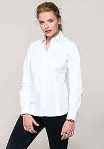Dames stretch blouse lange mouwen