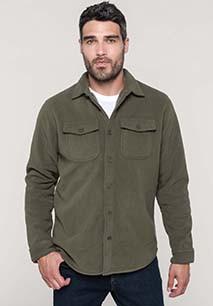 Overhemd van fleece met sherpavoering