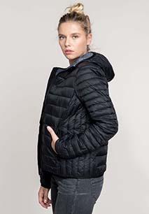 Ladies' lightweight hooded padded jacket