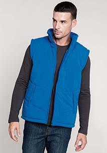 Met fleece gevoerde bodywarmer