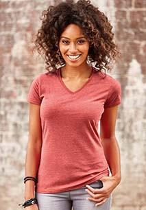 Ladies V-neck HD T-shirt