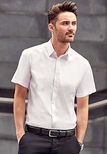 Men's Short Sleeve Herringbone Shirt