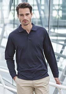 Unisex Coolplus® Long Sleeved Polo Shirt