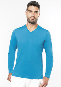 T-shirt V-hals lange mouwen