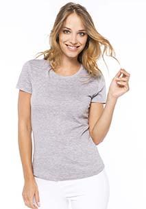 Ladies' crew neck short sleeve T-shirt