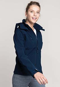 Dames Afneembare hooded softshell jas