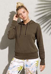 Damessweater met capuchon BIO