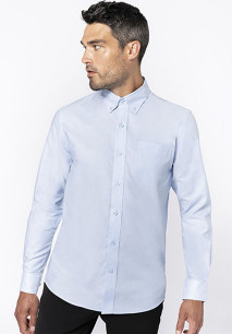 Heren oxford overhemd lange mouwen