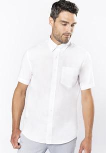 Heren oxford overhemd korte mouwen