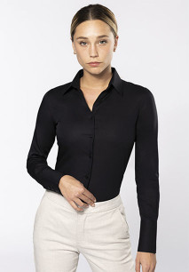Dames non-iron blouse lange mouwen