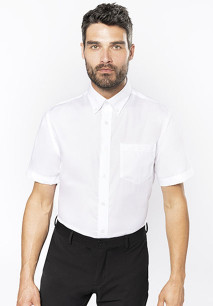 Heren non-iron overhemd korte mouwen