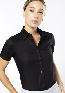 Dames non-iron blouse korte mouwen
