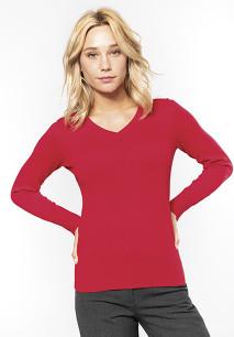 Dames pullover met v-hals
