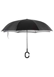 Omgekeerde, handenvrije paraplu