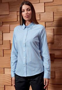 Overhemd met grote vichyruiten
