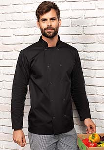 Long Sleeve Press Stud Chef's Jacket