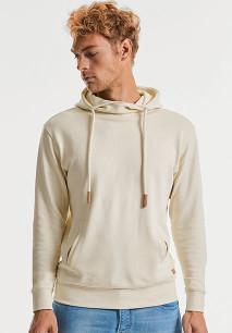 Sweater met capuchon en opstaande kraag Pure Organic
