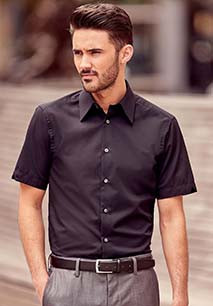 Men's Short Sleeve Tencel Fitted Shirt