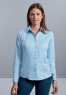 Ladies Long Sleeve Herringbone Shirt