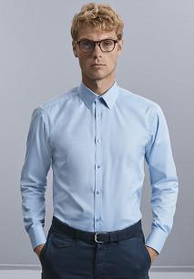Men's Long Sleeve Herringbone Shirt
