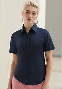 Lady Fit Oxford Shirt Short Sleeves (65-000-0)