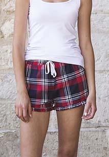 Women's Tartan Frill Lounge Shorts