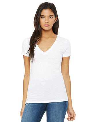 Women`s Deep V-neck Jersey T-shirt