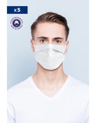 Gezichtsmasker Afnor UNS1 - Herbruikbaar en wasbaar met neusklem