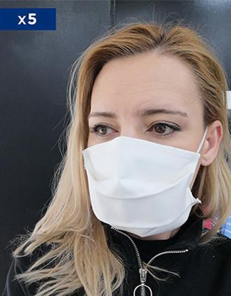 Comfort masker Voor Niet Sanitair Gerbruik (Cat. 1 volgens AFNOR Norm) Verkocht per pack van 5 maskers