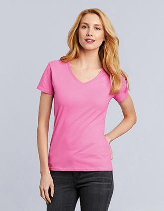 Premium Cotton  Ladies' V-neck T-shirt