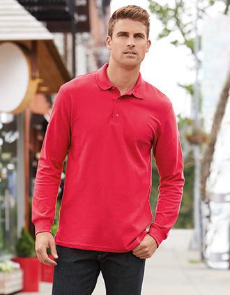 Premium Cotton® Adult Long Sleeve Double Piqué Polo