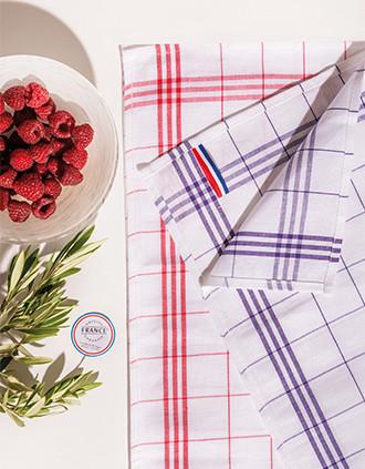 Geruite theedoek Origine France Garantie