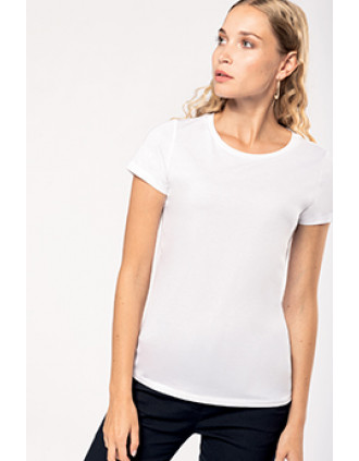 Dames-t-shirt Supima® ronde hals korte mouwen