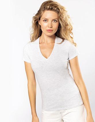 Dames-t-shirt BIO150 V-hals