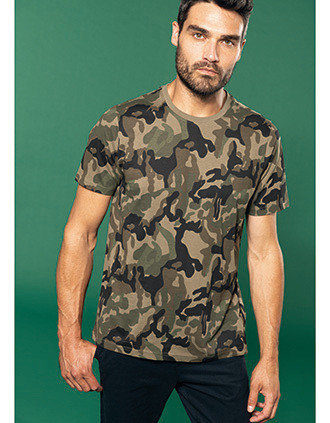 T-shirt camo korte mouwen