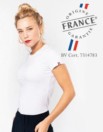 "Women's organic t-shirt ""Origine France Garantie"""